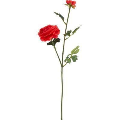 Flor Artificial Ranúnculus Rojo 54 cm