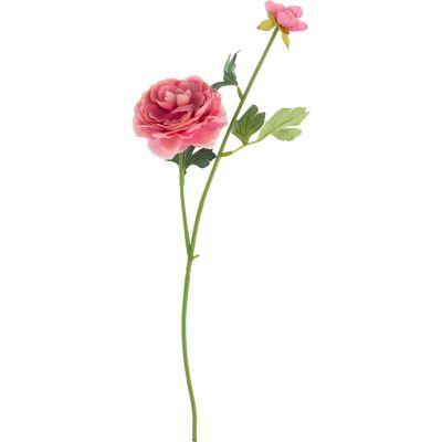 Flor Artificial Ranúnculus Rosa 54 cm