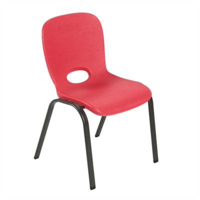 Silla Apilable Infantil Rojo 59.8x36.8x38.1cm