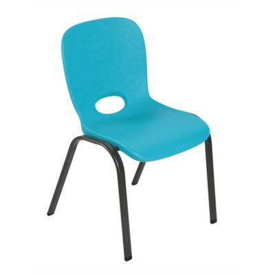 Silla Apilable Infantil Azul 59.8x36.8x38.1cm