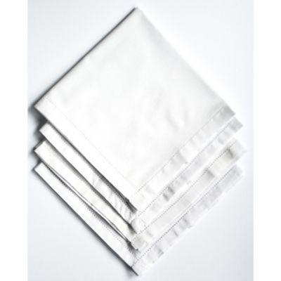 Set x 2 Servilletas Blancas Dobladillo