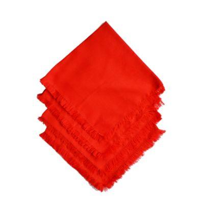Set x 2 Servilletas Telar Rojas con Flecos