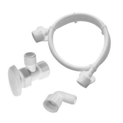 """Acople Flexible de 150cm para Instalación de Lavavajillas + Codo de 90 Grados de 1/2"""" a 3/4"""" + Válvula de Regulación"""