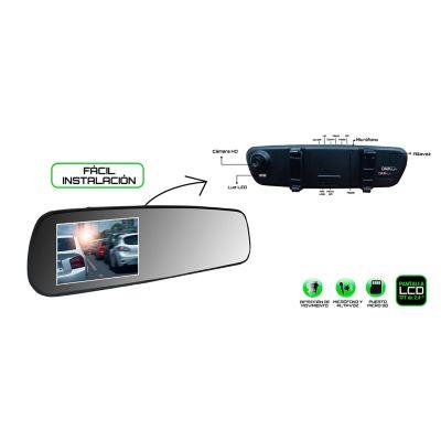Espejo Retrovisor con Cámara Frontal 720P HD