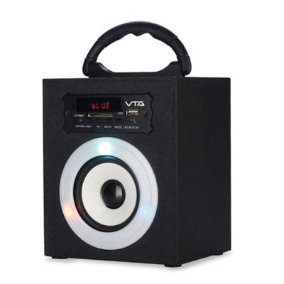 Amplificador Recargable de 6 Watts RMS con Luces Radio FM Puerto USB Tarjeta SD Bluetooth