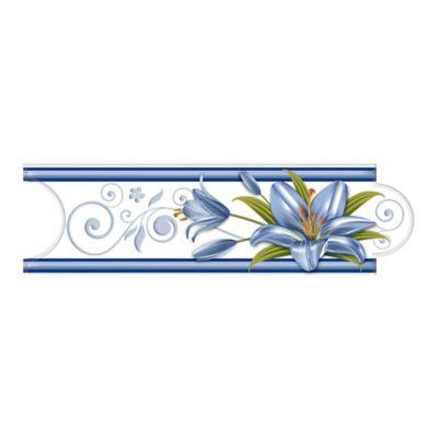 Listello para Baño Babel 8x25 Centímetros Azul
