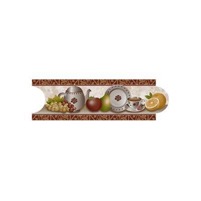 Listello para Cocina Nuevo Galesa 8x25 Centímetros Café