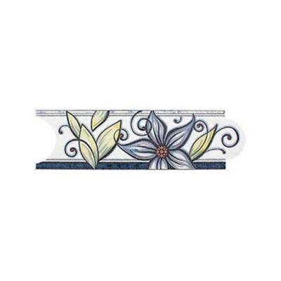 Listello para Baño Garden 8x25 Centímetros Azul