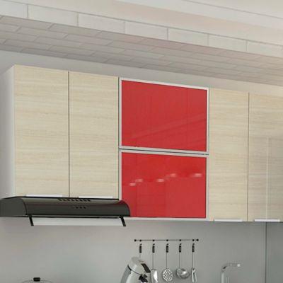 Mueble de Cocina Superior 1.80 metros Milano 6 Puertas Fresno Decape Alto Brillo
