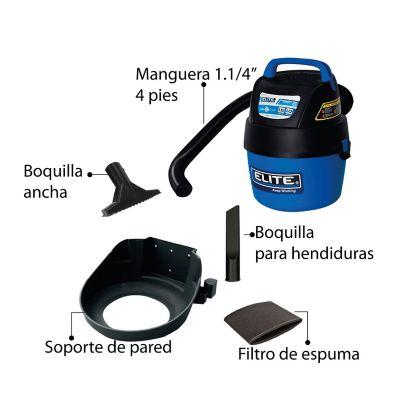 Aspiradora para Seco y Húmedo de 1.5 Hp 3.7 Litros Azul