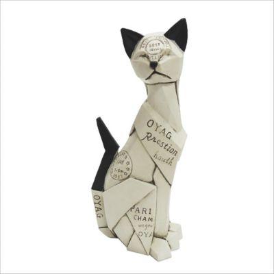 Escultura Gato Arabia 26.4 cm Beige
