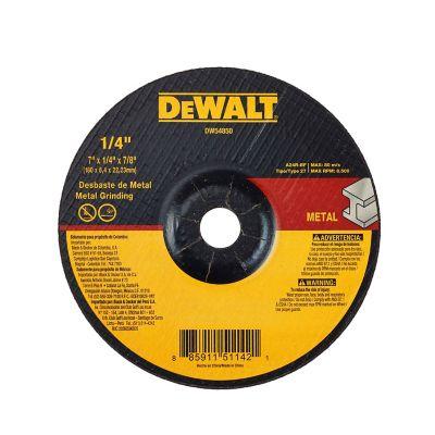 Disco Abrasivo Desbaste Metal 7 X 1/4  Ref DW44850