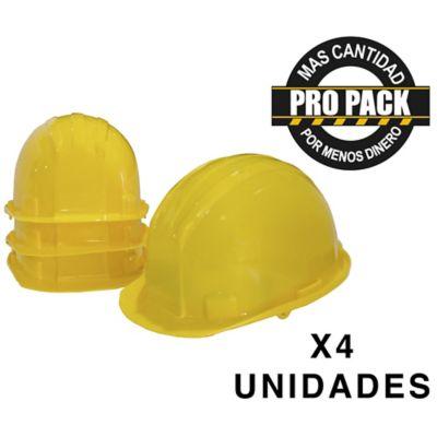 Casco  Amarillo Propack x 4 und