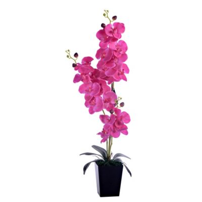 Flor Artificial Orquidea Morada