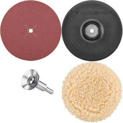 Juego Respaldo Lija Circular Bonete 5 B&D Ref U1450