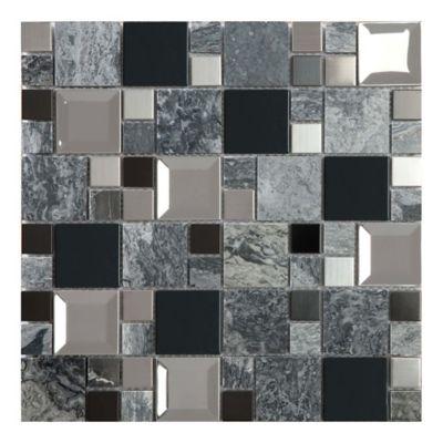 Mosaico Kaos Grey 30x30 cm Lt