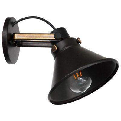 Aplique Aby 1 Luz E27 Negro