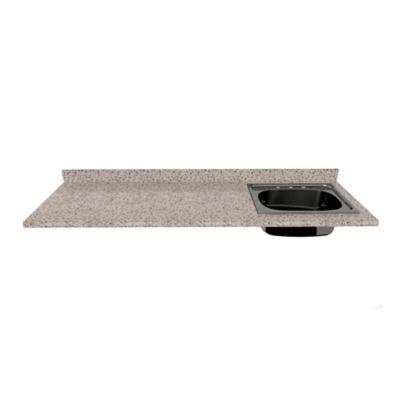 Mesón para Cocina Postformado 180x60 cm con Poceta Derecha Jaspe Claro