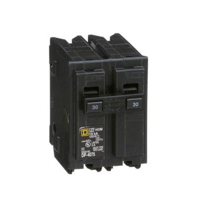 Mini Breaker Homeline, 2 Polos, 30 A, 10 kA, 120-240 V AC, Enchufable