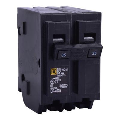 Mini Breaker Homeline, 2 Polos, 50 A, 10 kA, 120-240 V AC, Enchufable
