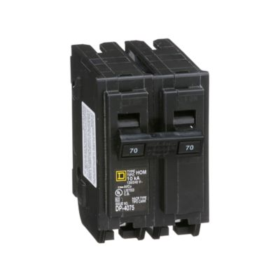Mini Breaker Homeline, 2 Polos, 70 A, 10 kA, 120-240 V AC, Enchufable