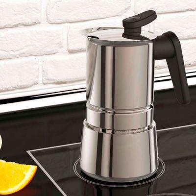 Cafetera  6 Tazas Steel Moka Acero