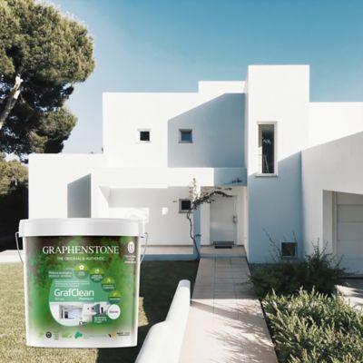 Pintura Ecológica para Interior Con Grafeno Zonas de Limpieza Continua 15 Litros Blanco