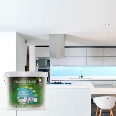 Pintura para Interior Ecológica Con Grafeno Zonas de Limpieza Continua 4 Litros Blanco