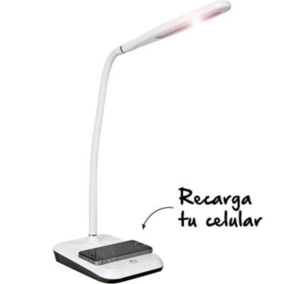 Lámpara LED Con Cargador De Celular