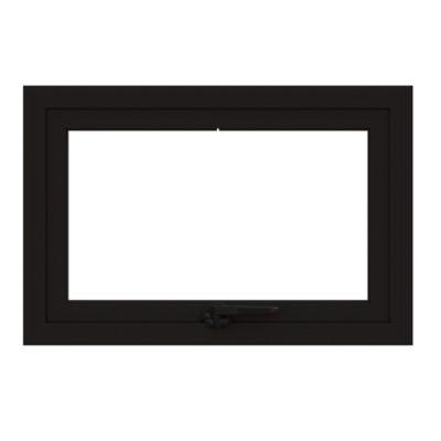 Ventana 60x40cm Aluminio Int Negro para Proyecto x Vidrio 4mm