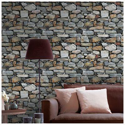 Papel Mural Piedra Gris 53 cm x 10 Mt Zen