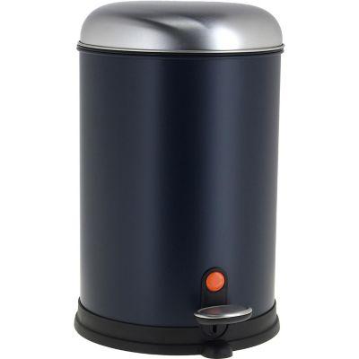 Papelera Redonda Pedal 12 Litros Azul