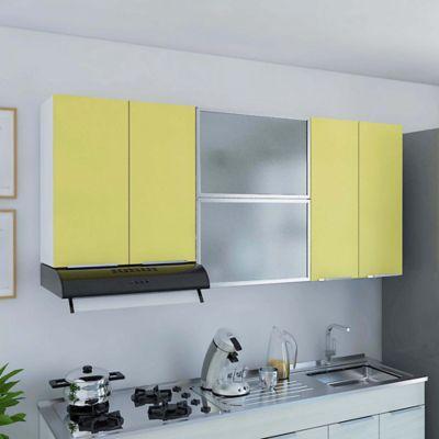 Mueble de Cocina Superior 1.80 metros Milano 6 Puertas Mango