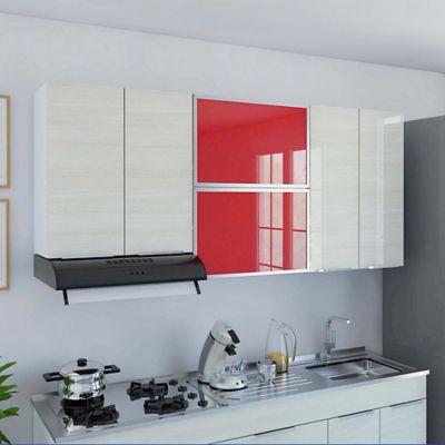 Mueble para Cocina Superior 1.80 Metros Milano 6 Puertas Rojo