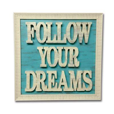 Cuadro Letras Caladas 35 x 35 cm Dreams