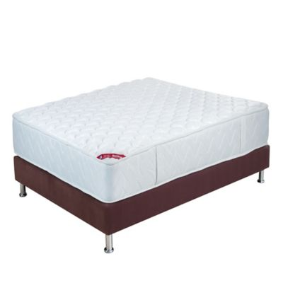 Combo Colchon Doble New One  140x190 cm + Base Cama Café