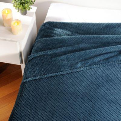 Cobija Popcorn Fleece 180X220Cm 280Gr Azul