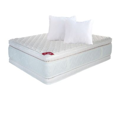 Combo Colchon Doble Descanso Perfecto 140x190 cm + Almohada Siliconada