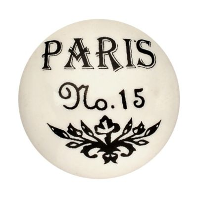 Pomo Porcelana 40Mm Paris No 15 2Und Fixser
