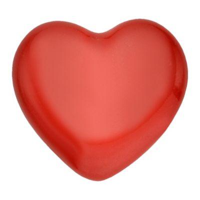 Pomo Porcelana 40Mm Corazon Rojo 2Und Fixser