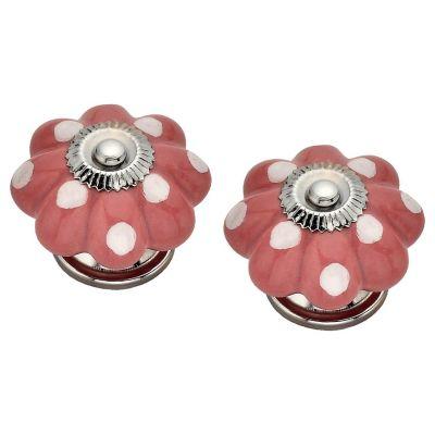 Pomo Porcelana Gajos 40Mm Rosa 2Und Fixser