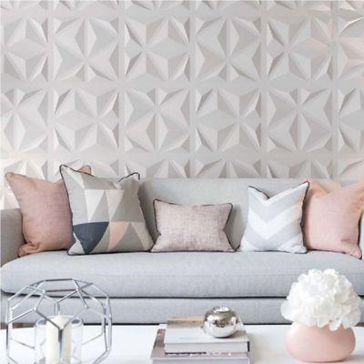 Panel Decorativo 3D Triángulos Blanco Caja 3m2 (12 Paneles)