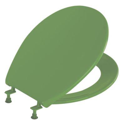 Asiento Sanitario Comodor Redondo Verde Cierre Tradicional