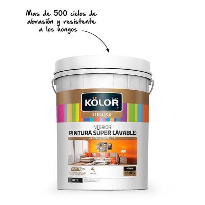 Pintura para Interior Deluxe Blanco Cuñete 5 Galones
