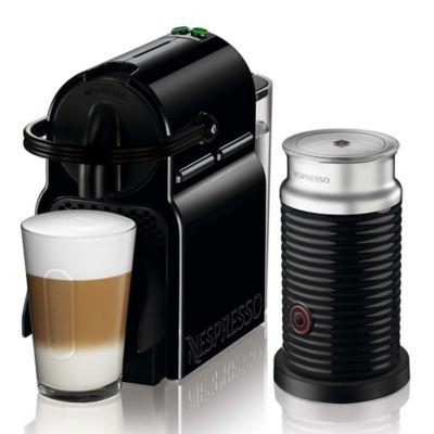 Máquina de Café Inissia Bundle Negro + Aeroccino Espumador Incluye 14 cápsulas