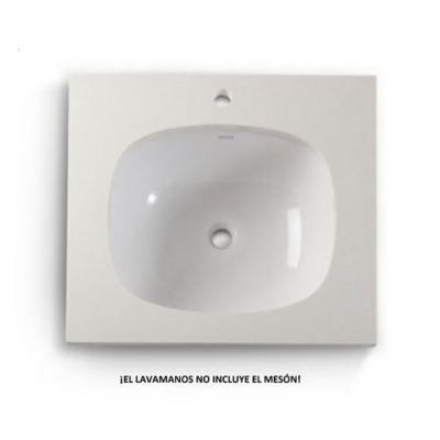 Lavamanos Cascade de Incrustar Blanco