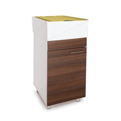 Lavadero Esencial Con Mueble Inferior 1 Puerta Amaretto Y Accesorios Verdes