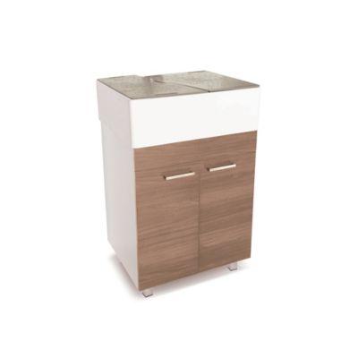 Lavadero Comfort Con Mueble Inferior 2 Puertas Café Espresso Y Accesorios Taupe