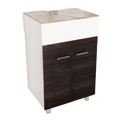 Lavadero Comfort Con Mueble Inferior 2 Inferior Roble Ahumado Y Accesorios Taupe