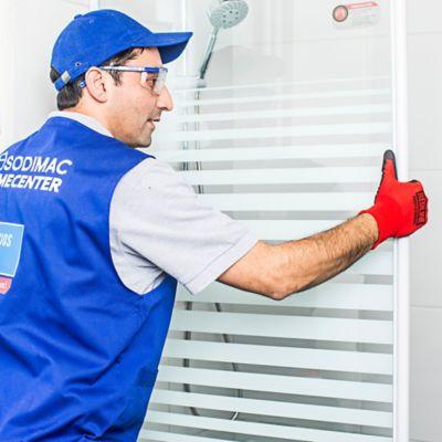 Instalación puerta plegable ducha recta